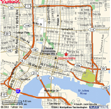 Map displaying the area around the Jacksonville office